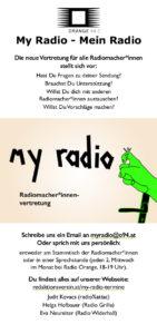 My Radio - Mein Radio - Infoflyer mit Logo und dem text der auch hier auf der Webseite steht