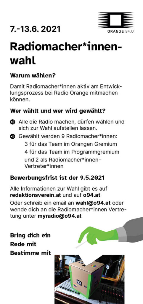 Der Wahlaufruf als Flyer in deutsch