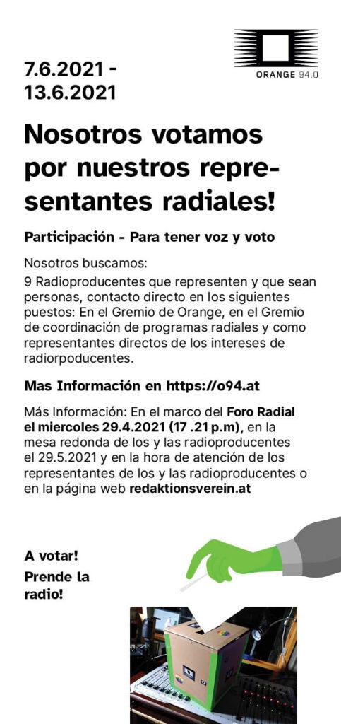 Der Wahlaufruf als Flyer in spanisch