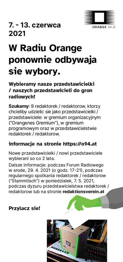 Der Wahlaufruf als Flyer in polnisch
