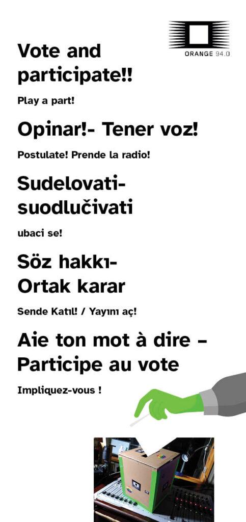 Wahlslogans als Flyer